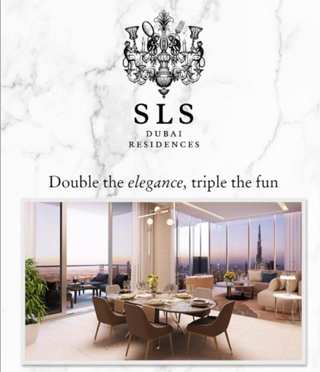 Large Studio Apartment in High Luxury SLS Dubai Residences